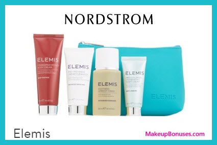 Receive a free 5-pc gift with $100 Elemis purchase