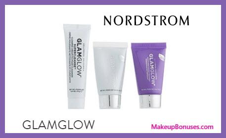 Receive a free 3-pc gift with $59 GlamGlow purchase