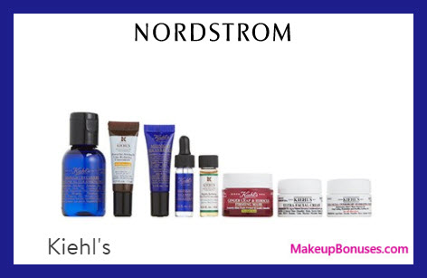 Receive a free 8-pc gift with $125 Kiehl's purchase