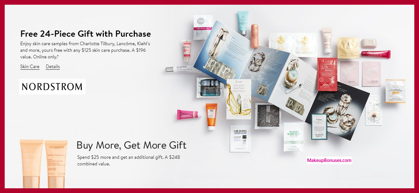 Receive a free 24-pc gift with $125 skincare purchase