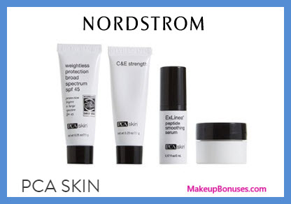 Receive a free 4-pc gift with $100 PCA Skin purchase