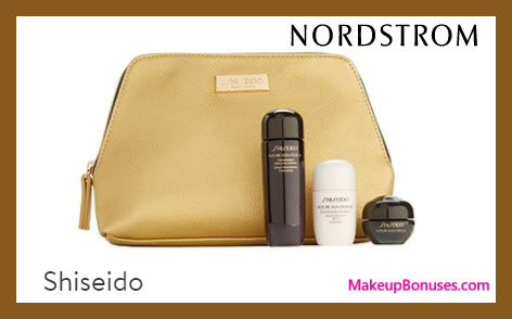 Receive a free 4-pc gift with $150 Shiseido purchase