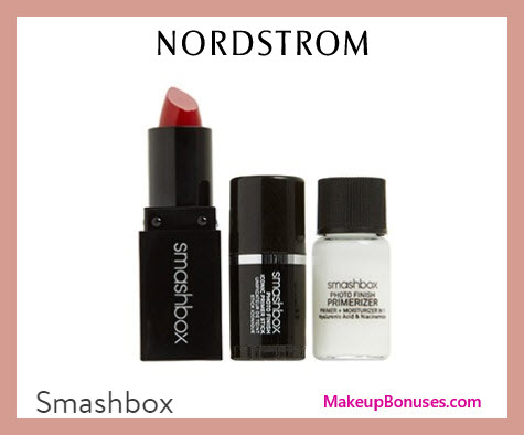 Receive a free 3-pc gift with $45 Smashbox purchase