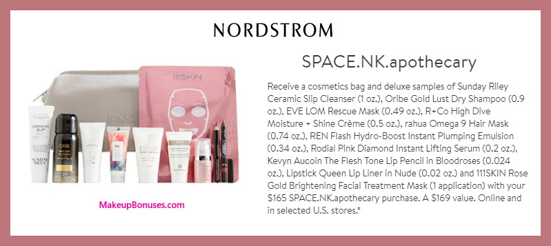 Receive a free 11-pc gift with $165 Space NK purchase