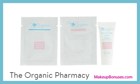 Receive a free 3-pc gift with $65 The Organic Pharmacy purchase