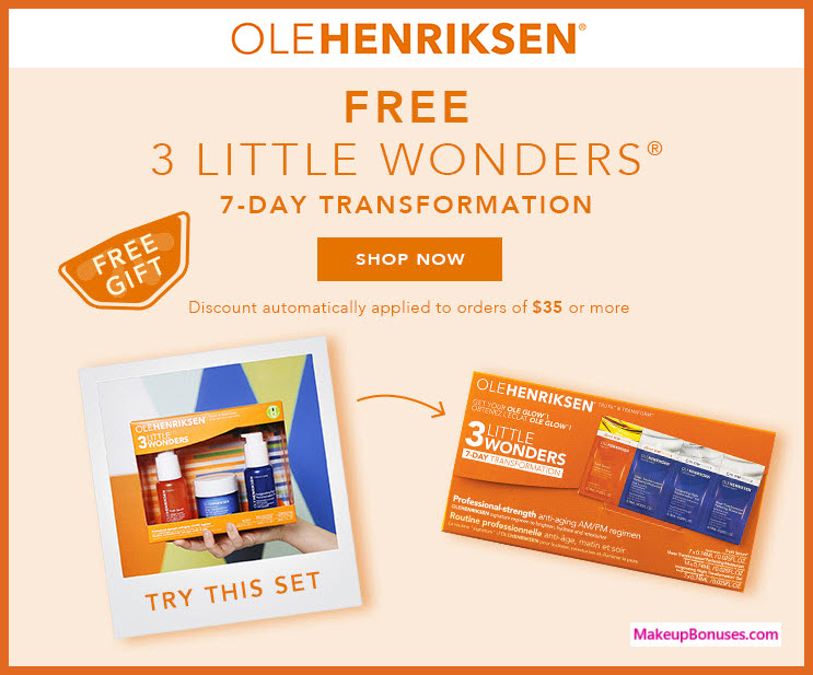 Receive a free 4-pc gift with $35 OLE HENRIKSEN purchase