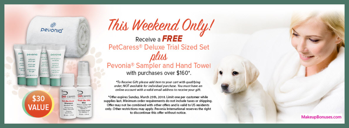 Receive a free 7-pc gift with $160 Pevonia purchase