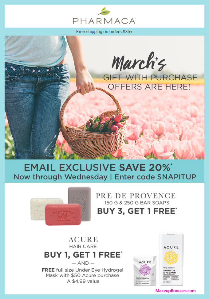 Receive a free 3-pc gift with 3 product purchase