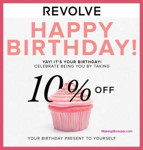 REVOLVE Birthday Gift - MakeupBonuses.com #revolve