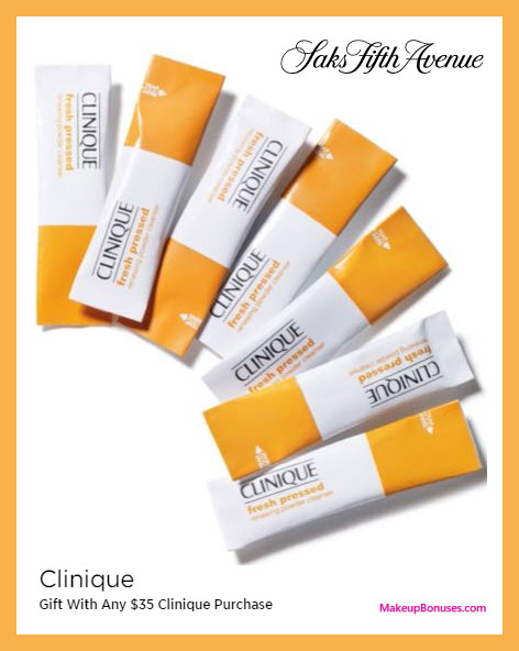 Receive a free 7-pc gift with $35 Clinique purchase
