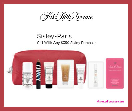Receive a free 10-pc gift with $350 Sisley Paris purchase
