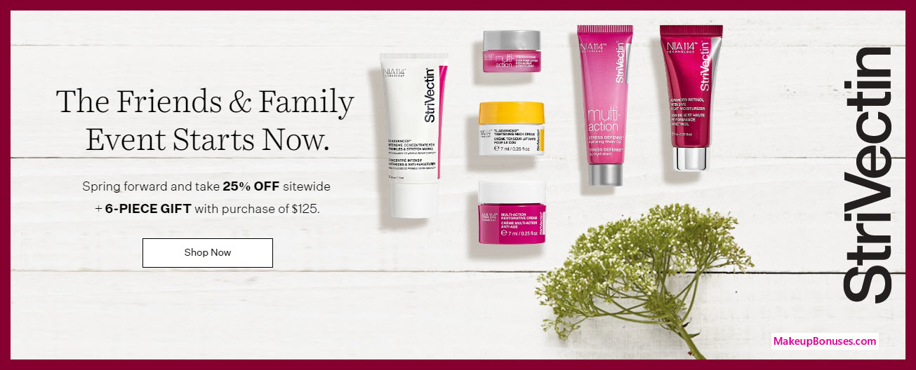 Receive a free 6-pc gift with $125 StriVectin purchase