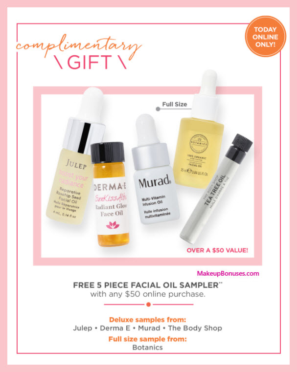 Receive a free 5-pc gift with $50 Multi-Brand purchase
