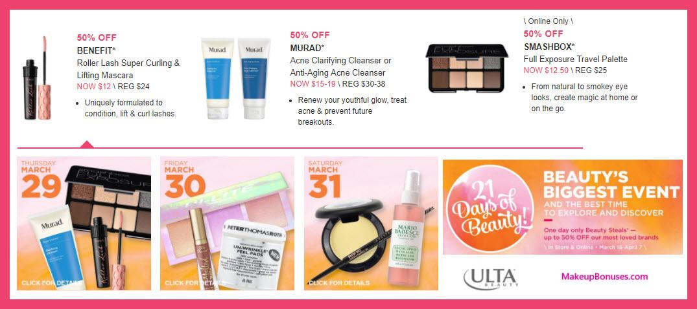 Ulta 21 Days of Beauty - MakeupBonuses.com