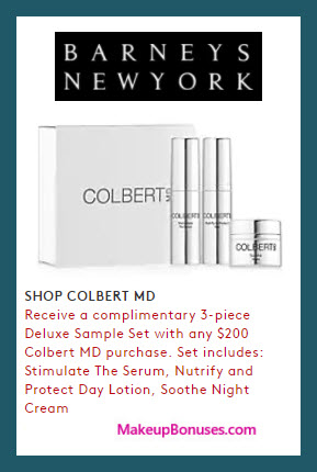 Receive a free 3-pc gift with $200 Colbert MD purchase
