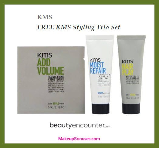 Receive a free 3-pc gift with any KMS purchase