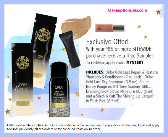 Receive a free 4-pc gift with $85 Multi-Brand purchase