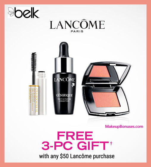 Receive a free 4-pc gift with $50 Lancôme purchase