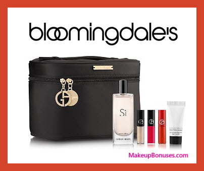 Receive a free 5-pc gift with $150 Giorgio Armani purchase