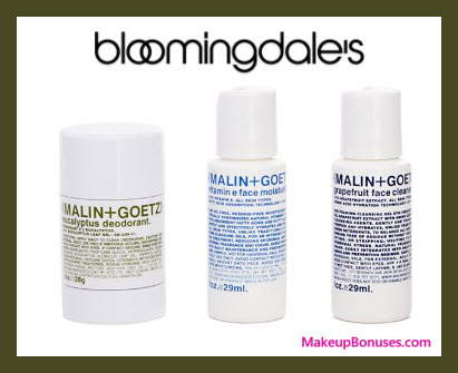 Receive a free 3-pc gift with $85 Malin + Goetz purchase