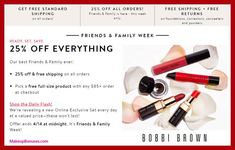 Bobbi Brown Friends & Family - MakeupBonuses.com