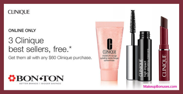 Receive a free 3-pc gift with $60 Clinique purchase