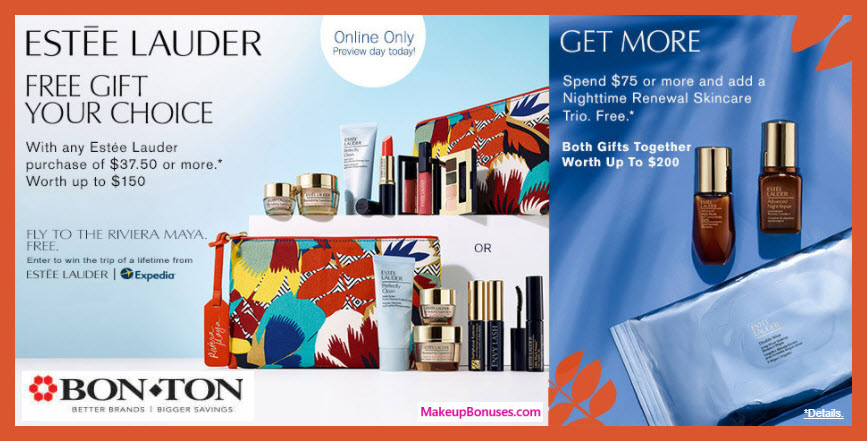 Receive your choice of 7-pc gift with $37.5 Estée Lauder purchase