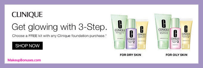 Receive your choice of 3-pc gift with foundation purchase