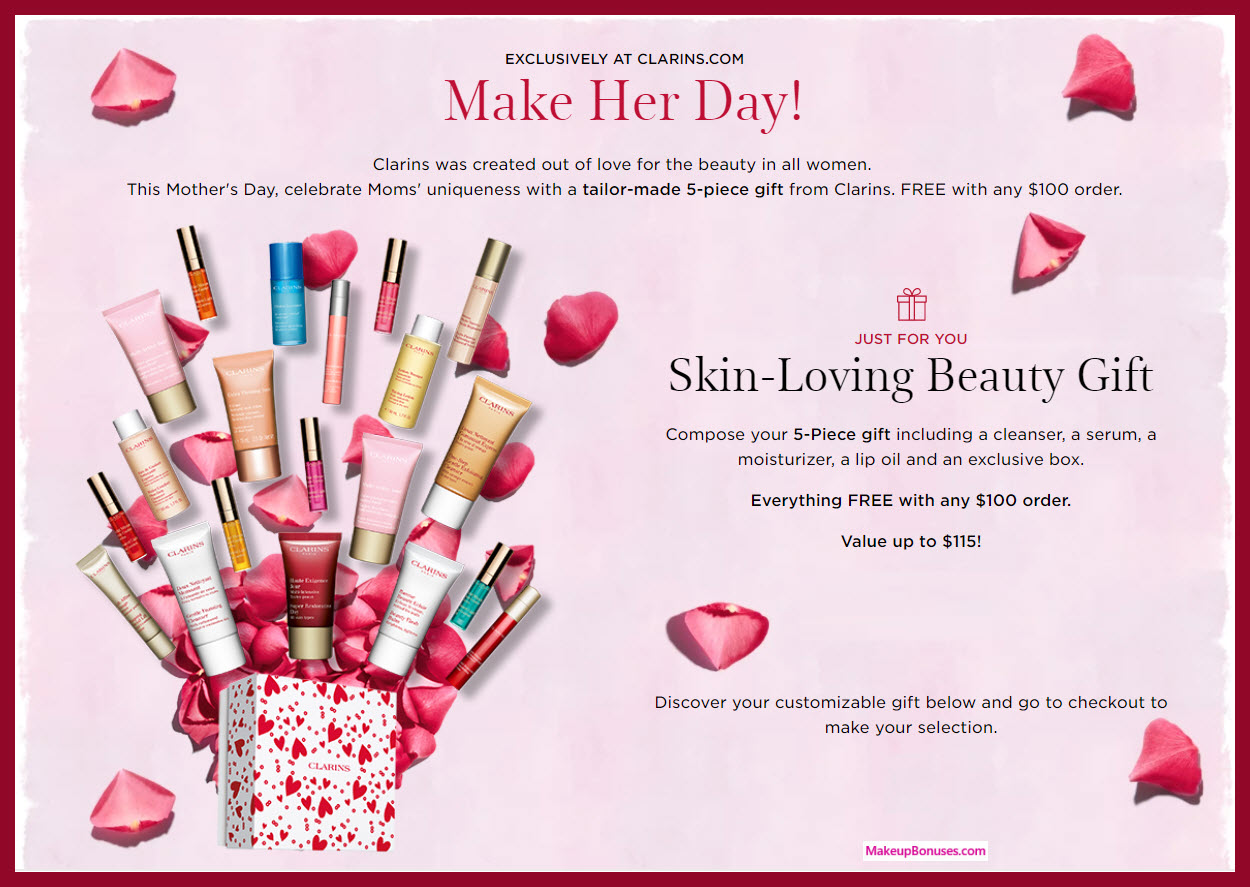 Receive your choice of 5-pc gift with $100 Clarins purchase