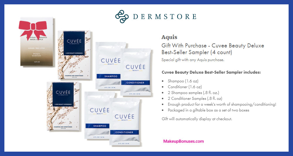 Receive a free 6-pc gift with any purchase