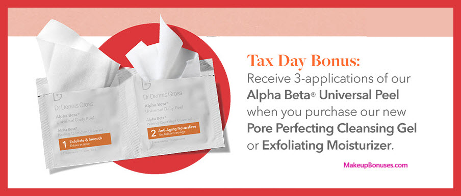 Receive a free 3-pc gift with Pore Perfecting Gel or Exfoliating Moisturizer purchase