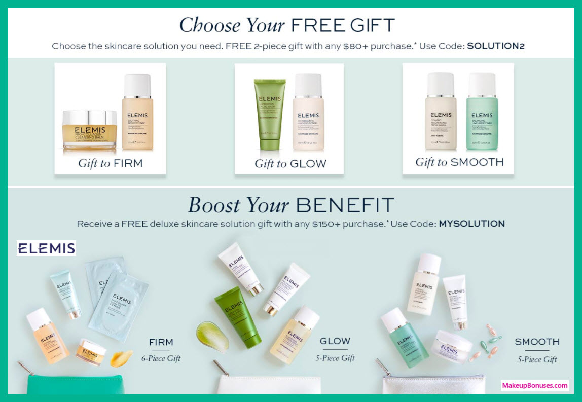 Receive your choice of 5-pc gift with $150 Elemis purchase
