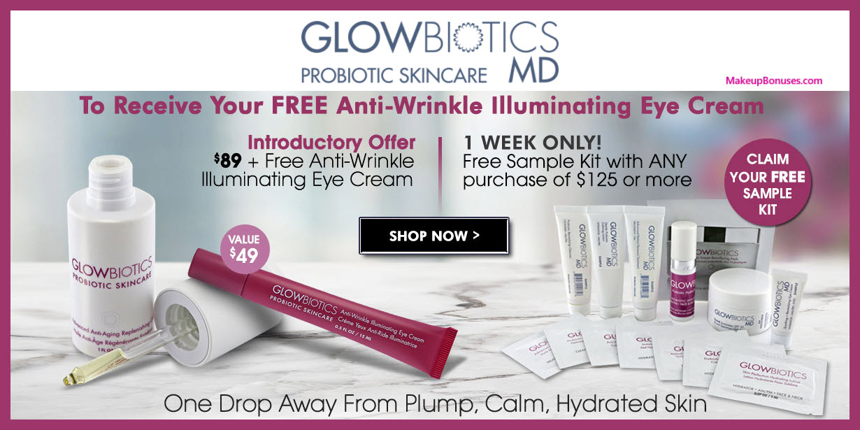 Receive a free 14-pc gift with $125 GlowBiotics MD purchase