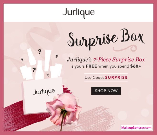 Receive a free 7-pc gift with $60 Jurlique purchase
