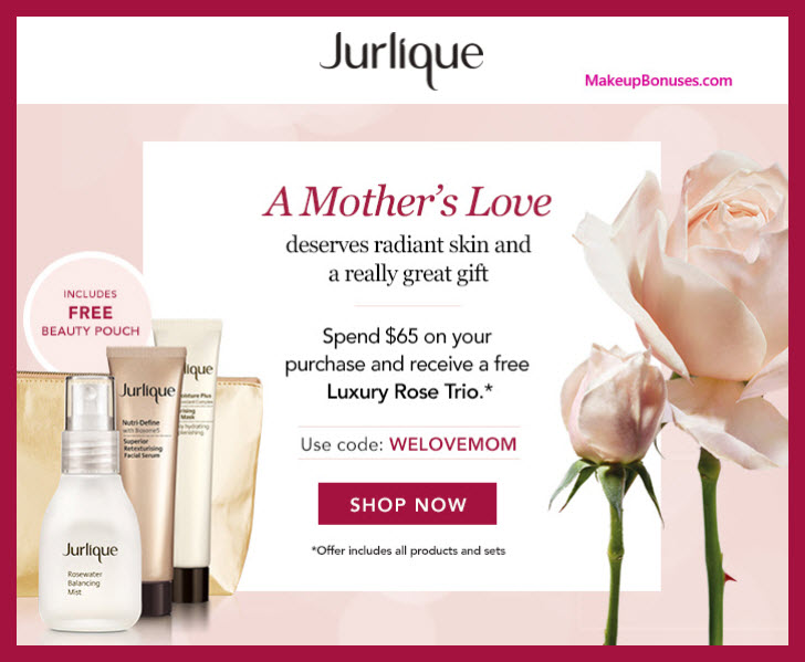 Receive a free 4-pc gift with $65 Jurlique purchase