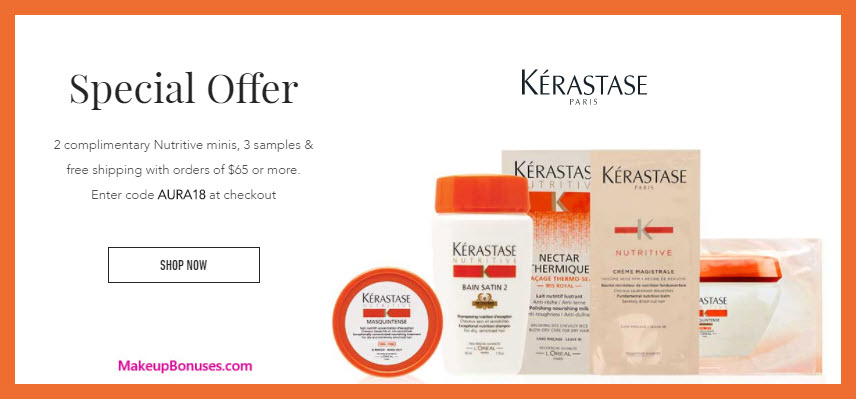 Receive a free 5-pc gift with $65 Kérastase purchase