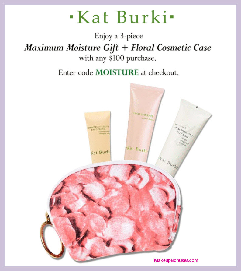 Receive a free 4-pc gift with $100 Kat Burki purchase