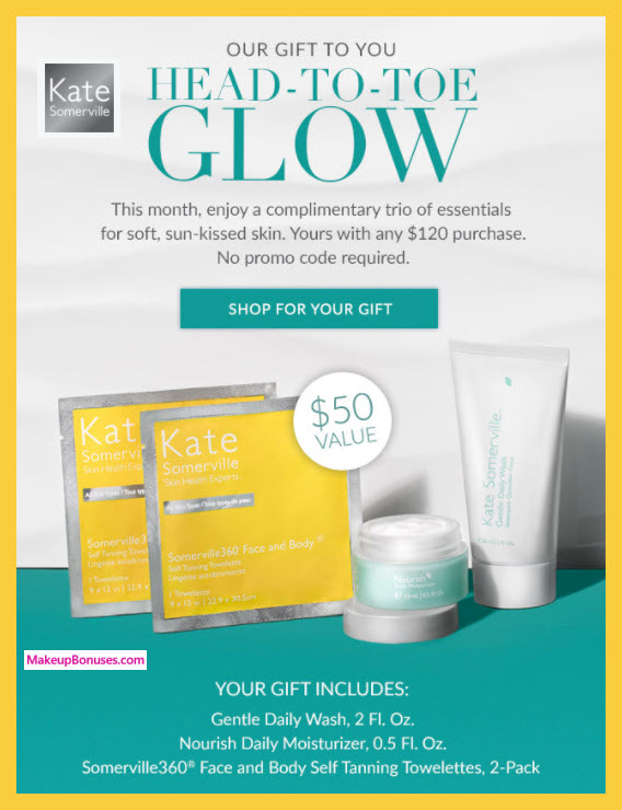 Receive a free 4-pc gift with $120 Kate Somerville purchase