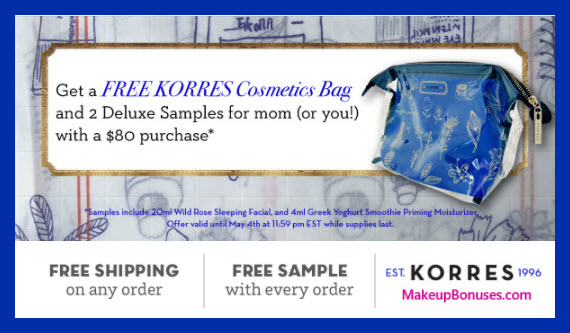 Receive a free 3-pc gift with $80 Korres purchase