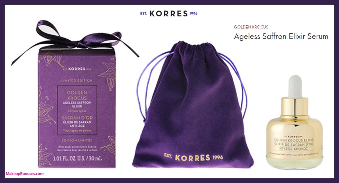 Golden Krocus Ageless Saffron Elixir by KORRES - MakeupBonuses.com