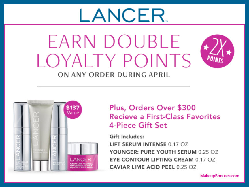 Receive a free 4-pc gift with $300 LANCER purchase