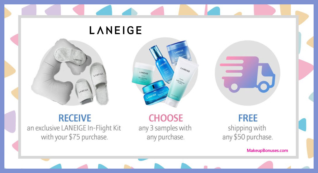 Receive a free 3-pc gift with $75 LANEIGE purchase