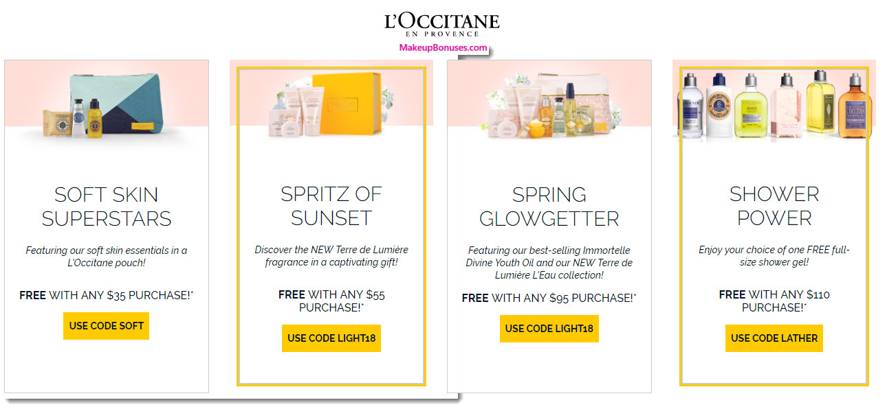 Receive a free 3-pc gift with $65 L'Occitane purchase