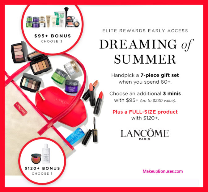 Receive your choice of 11-pc gift with $120 Lancôme purchase