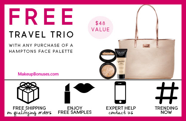 Receive a free 3-pc gift with Hamptons Face Palette purchase