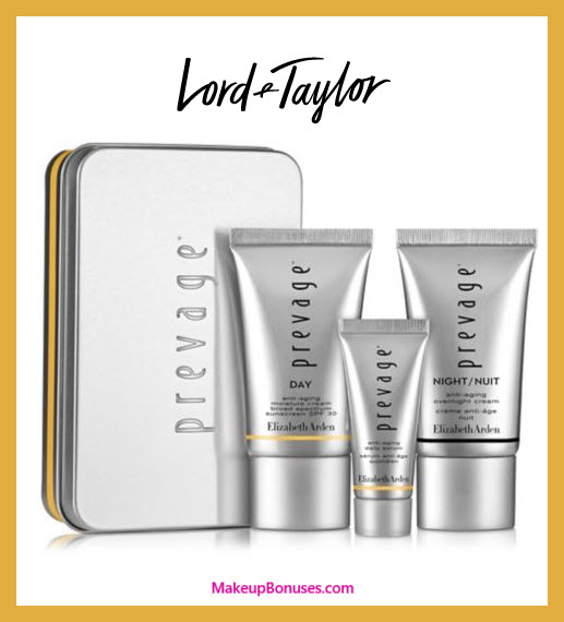 Receive a free 3-pc gift with Prevage Face Serum purchase