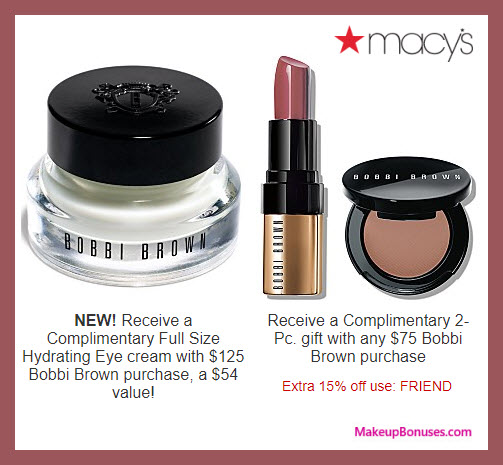 Receive a free 4-pc gift with $125 Bobbi Brown purchase