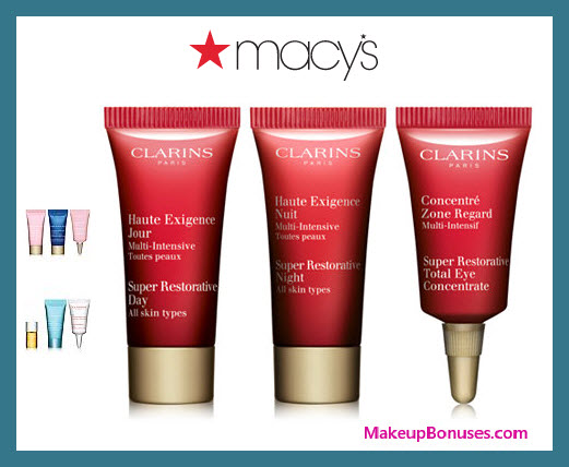 Receive your choice of 3-pc gift with $75 Clarins purchase