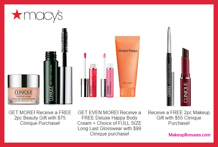 Receive a free 4-pc gift with $75 Clinique purchase
