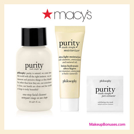 Receive a free 3-pc gift with $50 philosophy purchase